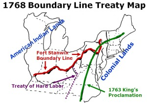 Fort Stanwix Treaty Map, 1768