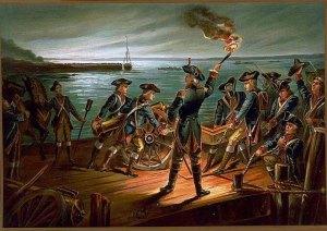 Artillery Retreats from Long Island