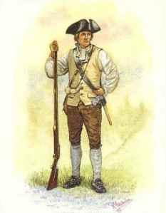 Revolutionary War militia soldier.