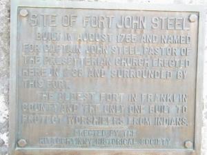 Steele's Fort Marker