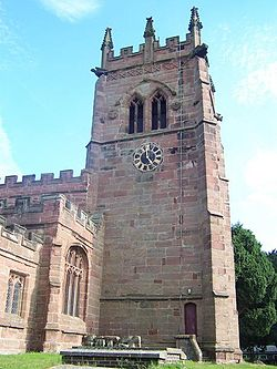 Tower of St. Bertoline's Church, Barthomley, County Chester