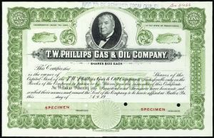TW Phillips Gas and Oil Company stock