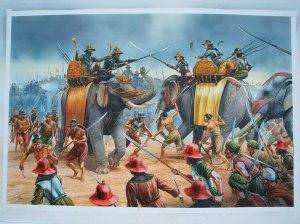 war elephants in Asia