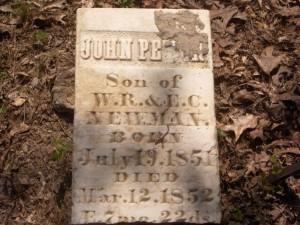 John Peter Newman headstone