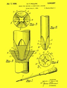 Phillips Screwdriver Patent