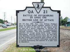 Battle of Petersburg, 25 April 1781