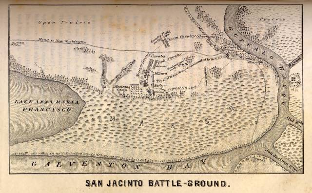 San Jacinto Battle Map