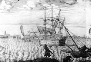Rotterdam Harbor, 1750