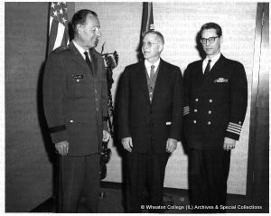 Kenneth Landon with General August Schomberg and Capt. Charles K. Phillips.