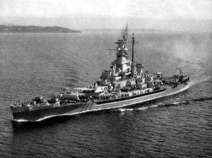 USS Massachusetts (BB-59) underway c1944
