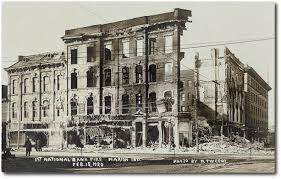 First National Bank of Marion after 1920 fire.